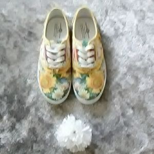 The Bradford Exchange Shoes - Women's Sun Flower Canvas Art Sneakers Nwot
